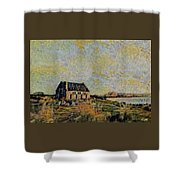 An Old Scottish Cottage Overlooking A Loch  L A S Shower Curtain
