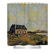 An Old Scottish Cottage Overlooking A Loch  L B Shower Curtain