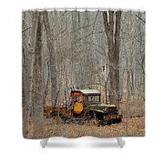An Old Truck In The Woods. Shower Curtain