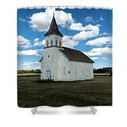 An Old Wooden Church Shower Curtain