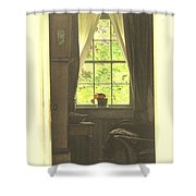 An Open Door Shower Curtain