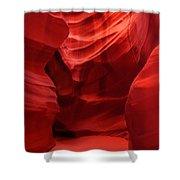 An Orange Chamber Antelope Canyon Shower Curtain