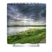 An Ordinary British Sky Shower Curtain