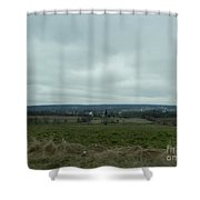 An Outlook Over Amish Farmland Shower Curtain
