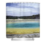 An Upper Geyser Basin At Chromatic Shower Curtain