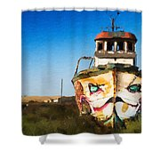 An Wooden Old Ship 1 Shower Curtain