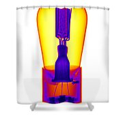 An X-ray Of Historic Audion Vacuum Tube Shower Curtain