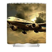 Ana Boeing 773 Ja784a Shower Curtain