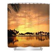 Anaehoomalu Bay Sunset Shower Curtain