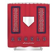 Anaheim Angels Art - Mlb Baseball Wall Print Shower Curtain