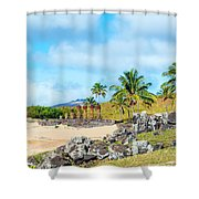 Anakena At Easter Island Shower Curtain