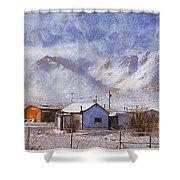 Anaktuvuk - Eskimo Village Shower Curtain