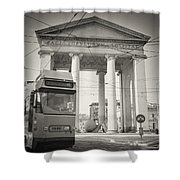 Analog Black And White Photography - Milan - Porta Ticinese Shower Curtain