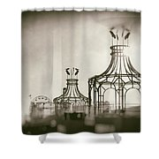 Analog On The Pier Shower Curtain by Michael Hope