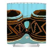 Anasazi Double Mug Shower Curtain