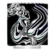 Anatomical Study Of The Legendary Pegaseahorse Shower Curtain