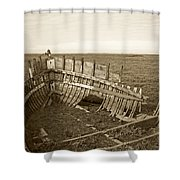 Anatomy Of An Old Boat Shower Curtain