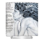 Anatomy Of Pain Shower Curtain
