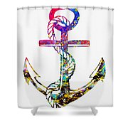 Anchor-colorful Shower Curtain