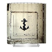 Anchor On Old Door Shower Curtain
