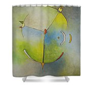 Anchor Points 3 Shower Curtain