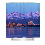 Anchorage Lights Shower Curtain