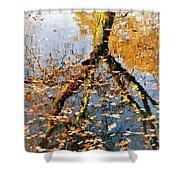 Anchorage In Autumn Shower Curtain