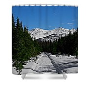 Anchorage Mountains Shower Curtain