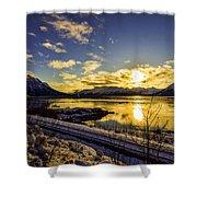 Anchorage Sunrise Shower Curtain