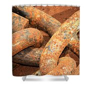 Anchored 1 Shower Curtain