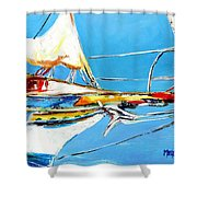 Anchored 2 Shower Curtain