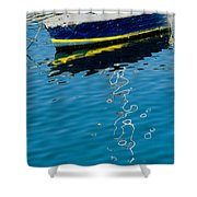 Anchored Boat II Shower Curtain