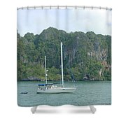 Anchored In Paradise Shower Curtain