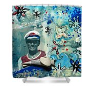 Anchor's Aweigh - Miniature Art Shower Curtain