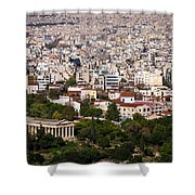 Ancient Agora Of Athens Shower Curtain