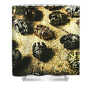Ancient Battlefield Armour Shower Curtain