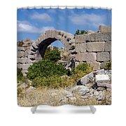 Ancient Bergama Acropolis Ruins Shower Curtain