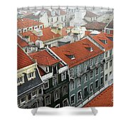 Ancient Buildings At Lisbon. Portugal Shower Curtain