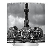 Ancient Cannon In Black And White Shower Curtain