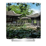 Ancient Chinese Architecture Shower Curtain