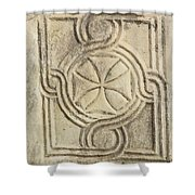 Ancient Cross Pattee Shower Curtain