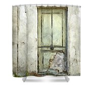 Ancient Doorway Rome Italy Pencil Shower Curtain