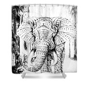 Ancient Elephant Shower Curtain