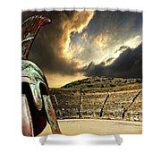 Ancient Greece Shower Curtain by Meirion Matthias