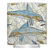 Ancient Greek Dolphins Shower Curtain