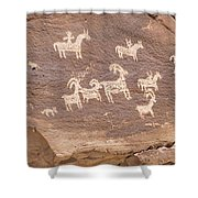 Ancient Hieroglyphics In Arches National Park Shower Curtain