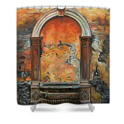 Ancient Italian Fountain Shower Curtain