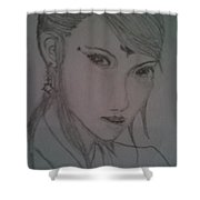 China Ancient Lady Shower Curtain