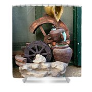 Model Of Ancient Water Mill In Greece  Shower Curtain
