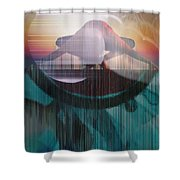 Ancient Of Days - After William Blake Shower Curtain